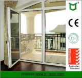 De Prijs van de Deur van de Gordijnstof van het aluminium met Uitstekende kwaliteit in China wordt gemaakt dat