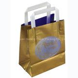 Tipo plástico la bolsa de plástico dura suave del bolso de la maneta de la ropa de la maneta del bucle