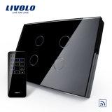 Livolo 고품질 먼 접촉 유리제 위원회 벽 전등 스위치 (VL-C304R-81/82)