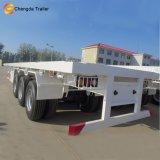 De 3 essieux de conteneur de lit plat remorque semi avec la suspension de ressort