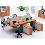 Nouveau bureau 4 sièges en bois linéaire du diviseur de station de travail (SZ-WST622)