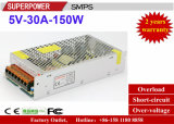 Fuente de alimentación de la conmutación del programa piloto 5V 30A 150W del LED reservada para la impresora 3D