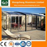 Het Leven van het terras het openluchtGlas Sunroom van de Tuin met de Structuur van het Aluminium en het Blad van het Polycarbonaat