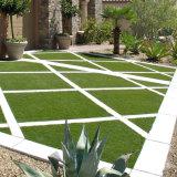 Het Kunstmatige Gras van vier Toon met 10 Jaar van de Garantie