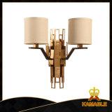 De moderne Elegante dubbel-Geleide Lamp van de Muur van de Stof van de Decoratie (GD18128W)