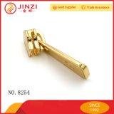 Custom Gold Metal To zip Slider Puller with Engraved Logo for Handbag Accessories