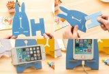 Parentesi di carico del supporto di legno del coniglio del basamento del telefono mobile di DIY