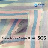 De fabrikant verkoopt Gestreepte Kleurrijke Garen Geverfte Organza voor Kleding, 100%Polyester