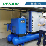 5-37kw Lubricated Screw air Compressor with tank and Dryer