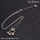 43615의 Xuping 여자 부속품 보석, Swarovski 금에 의하여 도금되는 목걸이에서 결정