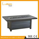 Moderne Ausgangs-/Hotel-Vierecks-Feuer-Vertiefung-Tisch-und Stuhl-Aluminiumrattan-Aufenthaltsraum-gesetzter Garten-im Freienmöbel