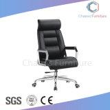Fauteuil en cuir artificiel moderne noir pivotant chaise de bureau (AR-EC1802)