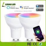 5W GU10 LED WiFiの電球RGB+はAlexaおよびGoogleの助手が付いているスマートなスポットライト作業を変更する白いカラーを暖める