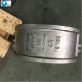API 6D литья с двумя пластину с двойной металлической сиденье фланцевый конец полупроводниковая пластина клапана