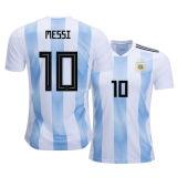 2018 #10 het Blauwe en Witte Vrije Verschepen van Jersey van het Voetbal van Argentinië van de Kop van de Wereld van het Overhemd van de Voetbal van het Huis van Strepen Messi door DHL