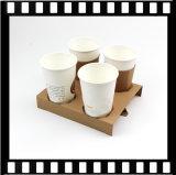 Четырех чашек Одноразовая упаковка бумаги поддон для чашек кофе держатель перевозчика