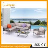 Lange Lebenszeit-im Freiengarten-Möbel-Armlehnen-Gegenständer-Tuch-Kunst-Sofa-Set