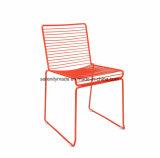 Черный стильный современный обеденный Stakcable металлической проволоки согнуть стул со стороны