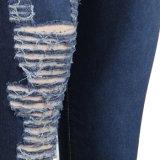Nuevo estilo de la Moda chicas lavan apretados Jeans de cintura alta Jeans Plus Size
