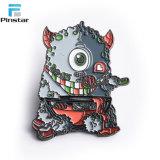 관례는 모든 형식 디자인 괴물 연약한 접어젖힌 옷깃 핀의 명찰을 단다