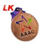イベントのためのカスタム亜鉛合金のめっきのマラソンのフィニッシャーメダル