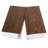 Hölzernes Wolle-Sandwichwand-Panel des Korn-Farben-Stahlblech-EPS/Rockwool/Glass