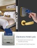 Tarjeta RFID Zwave Hotel cerradura de puerta de madera