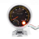 Yc100145 3.75 Licht-Schaltlicht-Selbstanzeigeinstrument der Zoll-Kohlenstoff-Faser-0-8000 U/Min weißes des Tachometer-U/Min