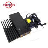 Las bandas 6Jammer/Blocker CDMA/GSM/3G/4glte celular/WIFI/Bluetooth/GPS/Glonass Fullband Galileol1-L5 Dispositivo de seguimiento/Lojack/Wi-Fi