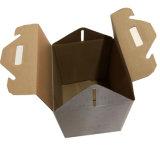 Белый логотип бумага для печати упаковки коробки из гофрированного картона с ручкой