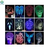 3D LED Nachtlicht mit stufenweiser Änderungs-Farbe