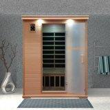 Infrarotsauna gebildet vom Schierling-Holz und von der Kohlenstoff-Heizung, trockener Bad-persönliche Sorgfalt-Sauna-Raum