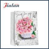꽃 패턴 주문 로고 디자인은 싼 도매 종이 봉지를 만들었다