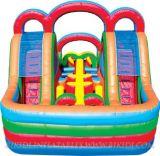 Curso de obstáculo inflável gigante para venda, obstáculo inflável longo