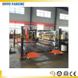 4 Pole-Selbstauto-Parken-Plattform mit 2 Parkplätzen
