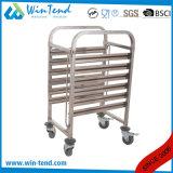 車輪を持つGn 1/1のための標準的で熱い販売のステンレス鋼Mの形の柵のトロリーキャリア