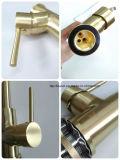 7 anni della filigrana dell'oro spazzolato garanzia di Pin della leva di rubinetto di lusso del bacino