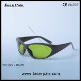 De Golflengte van de Bescherming van de Glazen van de Bescherming van de Ogen van de Beschermende brillen van de Bescherming van de Laser van Yhp: 8001100nm O.D5+ + 1060-1070 O.D7+ voor de Lasers van de Vezel met Frame 55