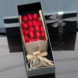 Papel de tampa elegante Rosa/presente de empacotamento do lírio