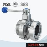 Нержавеющая сталь Санитарная Мужской / Union Конец клапан-бабочка (JN-BV2008)