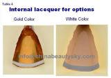 tubo de aluminio flexible de empaquetado poner crema del color del pelo pH>7