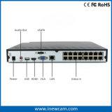 Red Poe NVR del sistema de alarma 16CH 4MP