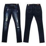 Fashion Girl's Hole & Skinny Denim Jeans (MY-046)