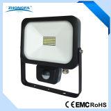Ce RoHS EMC approuvé 20W Lampe LED IP54 en plein air avec capteur PIR