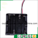 support de la batterie 4AA avec fils de fil rouges/noirs