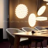 Iluminación pendiente moderna del vidrio LED para la decoración del sitio