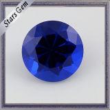 Pietra preziosa Spinel artificiale rotonda blu di vendite dirette della fabbrica del taglio di macchina del Aqua 113# per monili