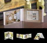 Leggyhorse5 x 7 дюймов гибкие прозрачным акриловым рамка для фотографий, съемная кадры с легкостью изменить форму, белого или черного цвета, комплект из 2 рамы