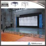 Étape acrylique de plate-forme de plexiglass de plate-forme transparente d'étape