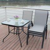Patio Piscina Home Hotel Restaurante Office Textilene Starback cadeira e mesa (J801)